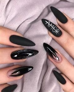 Pretty & Easy Gel Nail Designs to Copy in 2019 . - Pretty & Easy Gel Nail Designs to copy in 2019 Pretty & Easy Gel Nail Designs to Copy in 2019 . - Pretty & Easy Gel Nail Designs to copy in 2019 - Amazing nail art Nails Fall Nail Art Designs, Black Nail Designs, Simple Nail Designs, Acrylic Nail Designs, Acrylic Nails, Gel Designs, Long Nail Designs, Shellac Nails, Diy Nails