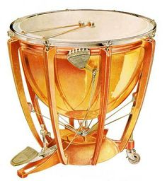 Timpani - also called kettledrum; a pitched percussion instrument ...