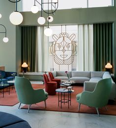 jaime hayon overhauls barceló hotel interior inside madrid's tallest tower lovely green colour