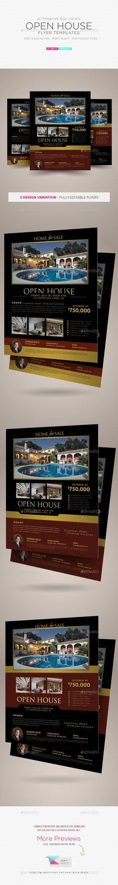 Real Estate Flyer Флаеры, Шаблон флаера и Недвижимость   Open House Flyer  Template  Open House Flyer Template