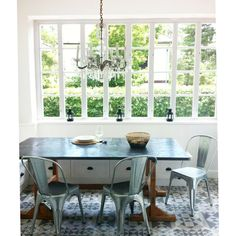 Summer house - design by Petra Nikoletti / Térkultúra Design Team Dining Chairs, Dining Table, Weekend House, House Tours, Ikea, Sweet Home, House Design, Interior, Kitchen