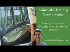 Painting Watercolor Glazes: Using layering for more control in watercolors - YouTube