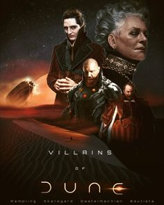 Our vision of Dune Villains 2020 (video on our channel)! - dune Dune Series, Frank Herbert, 2020 Movies, The Dunes, Great Words, The Twenties, Science Fiction, Concept Art, Sci Fi