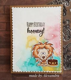 Party Animals 4x6 Stamp Set and Die Gerda Steiner Designs Papercrafts