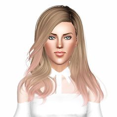 Newsea`s Shaine  hairstyle retextured by Pocket by July Kapo for Sims 3 - Sims Hairs - http://simshairs.com/newseas-shaine-hairstyle-retextured-by-pocket-by-july-kapo/