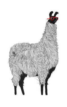 Llama Time by Olly Moss, via Flickr