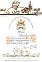 Wine by wijngekken.nl >>>>>>>>>>>>    For the fans....... Labels from Chateau Mouton Rothschild...1955