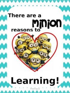 "EDITABLE Minion Anchor Charts: ""There are a minion reasons to love ______"" & ""Please raise your hand if you MUSTACHE a question"" for your culturally-relevant classroom. :)"