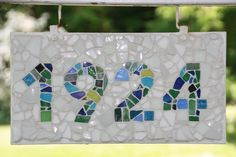 Mosaic House Numbers - close up