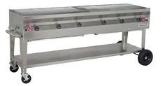 stainless steel silver giant grill, 72 inch