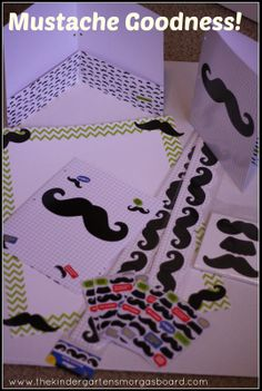 Check out the great mustache classroom materials!!!  I'm in mustache heaven!