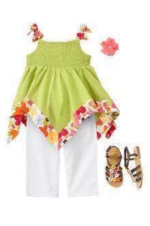 Gymboree did it again. They always have the most adorable summer clothes for little girls.