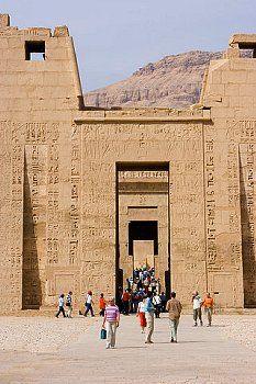 Mortuary Temple of Ramesses III, Madinet Habu, Luxor, Egypt