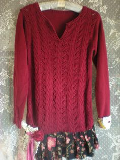 Boho Sweater Dress  Shabby Gypsy Sweater Dress  by Pursuation, $56.00