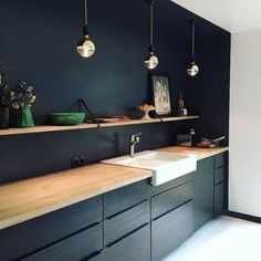Cheap Kitchen Remodel Ideas – Small Kitchen Designs On A Budget - Top Ikea Kitchen Design Ideas 2017 Ikea Kitchen Design, Kitchen Lamps, Kitchen Ideas, Kitchen Colors, Kitchen Wood, Kitchen Sink, Kitchen Countertops, Ikea Kitchen Lighting, Kitchen Aprons