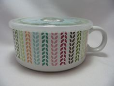 Microwave Microwaveme Soup Coffee Mug Bowl 5 Steam Lid Oven Red Hearts Ciroa All About Your Ebay Pinterest