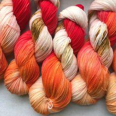 Signature Sock Yarn, a perfect balance of superwash merino and nylon, 80/20 to be exact. Each 100 gram skein is...