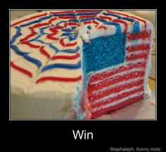 July fourth cake- I wish I could make this for my birthday! I guess there is almost a whole year left til then to practice!