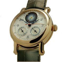 Christiaan Van Der Klaauw Planetarium - швейцарские мужские наручные часы - золотые, белые