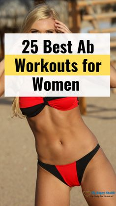 25 Best Abs Exercises & Workout for Women to Lose Belly Fat Fast - Diet Plans To Lose Weight Best Ab Workout, Abs Workout For Women, Ab Workouts, Lower Belly Fat, Lose Belly, Flat Belly, Flat Stomach, Flat Tummy, Lose Fat