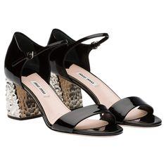 9e99e0ff879 Sandal with 65 mm milled heel Black Miu Miu Sandals