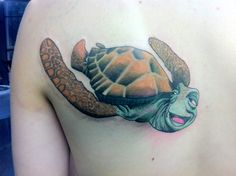 disneyink - samtysontattoos:   Finally finished this Crush the...