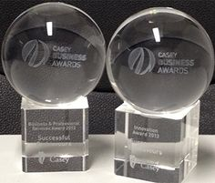 Casey Business Awards 2013 These are the trophies for the - business and professional services award - Innovation award