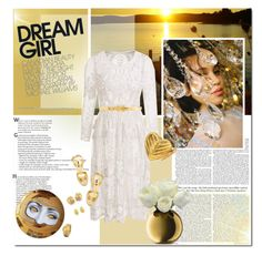 """""""Dream girl"""" by undici ❤ liked on Polyvore featuring Yves Saint Laurent, Dolce&Gabbana, Alexander McQueen and LSA International"""