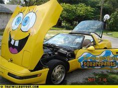 spongebob corvette