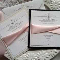 Pink Wedding Invitation Card Invite Modern Elegant by RedNell Wedding Invitations Elegant Modern, Wedding Invitation Inspiration, Pocket Wedding Invitations, Wedding Invitation Wording, Wedding Stationery, Party Invitations, Cards Ideas, Invitation Card Design, Homemade Cards