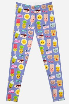 Smoothie Cup, Cherry Smoothie, Gothic Leggings, Hello Summer, Kawaii Cute, Cute Faces, Pineapple, Ice Cream, Tropical