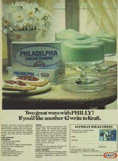 Philadelphia Cream Cheese & recipe Advertisement Ad March 1970 Vintage Retro