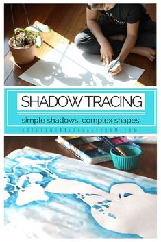 This shadow drawing experience because can be as simple or as complex as you choose. Artists of any age can sink into this activity that only requires pencil and paper but hits on some big ideas! If you've got more time add some color to the negative spaces using paint, chalk, pastels or markers.