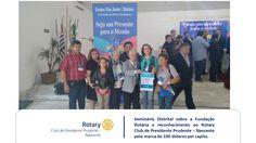 No último seminário sobre a Fundação Rotária, que aconteceu na cidade de Garça o Rotary Club de Presidente Prudente - Nascente recebeu mais um importante reconhecimento ao trabalho que vem realizando. A marca de doação de mais de 100 dólares por associado para a Fundação Rotária, onde o clube atingiu 294 dólares por associado,