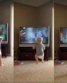 Najveći fan Rokija Balboe bi mogao da bude najmanji, obzirom da mali Čarli obožava ovog filmskog junaka, toliko da vežba sa njim!