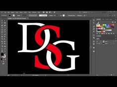 How to Overlap Letters in Adobe Illustrator Graphic Design Tools, Web Design, Graphic Design Tutorials, Media Design, Tool Design, Graphic Design Inspiration, Design Process, Design Trends, Graphic Art