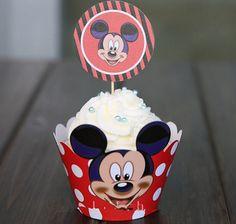 24 шт./компл. микки мыши кекс обертки кекс ботворезы дети день рождения ну вечеринку выпечки поставки душа ребенка чашки торт выборка