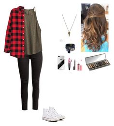 """""""That moment when your suppose to babysit but the cancel last minute🙂🙃"""" by so-not-perfect ❤ liked on Polyvore featuring H&M, prAna, Elvi, The Giving Keys, Converse, Urban Decay, Charlotte Russe, L'Oréal Paris and Smith & Cult"""