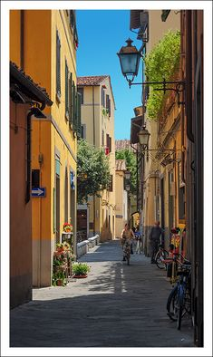 Colorful Streets of Pisa, Italy