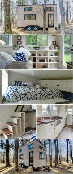 Rustic 160sf Craftsman Tiny House by Modern Tiny L…