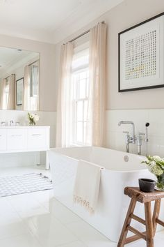 Bathroom styling | Soothing neutral palette #wishtankworthy ♥