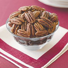 Roasted Spiced Pecans Try this easy recipe as a crunchy salad topping or just a tasty snack