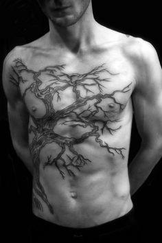 tree sternum tattoo