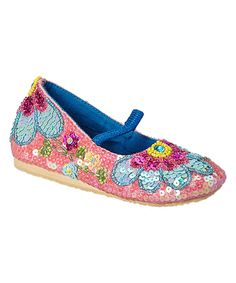 Look what I found on #zulily! Fairy Dreams Pink & Blue Sequin Bloomin' Flat by Fairy Dreams #zulilyfinds