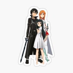 Sao stickers featuring millions of original designs created by independent artists. Family Stickers, Wall Stickers Room, Sao Kirito And Asuna, Bloom Winx Club, Anime Stickers, Printable Stickers, Sword Art Online, Sticker Design, Sell Your Art