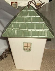 Pfaltzgraff Naturewood Birdhouse Shape Square Canister Cookie Jar Gentle Use #Pfaltzgraff $29.99 ebay for sale!