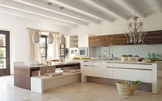 #Cocinas con #office de estilo contemporáneo - Decofilia.com