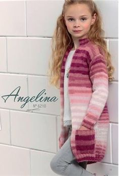 Meisjesvest gebreid in Angelina Lammy Yarns - Knitting For Kids, Sewing For Kids, Crochet Stitches Chart, Hobbies And Crafts, Knits, Virginia, Knit Crochet, Daughter, Crafty