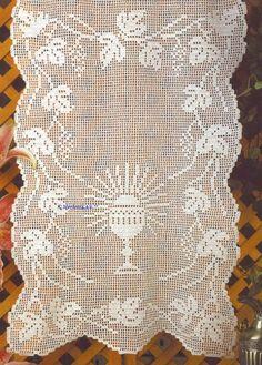 Филейное вязание крючком для Пасхи