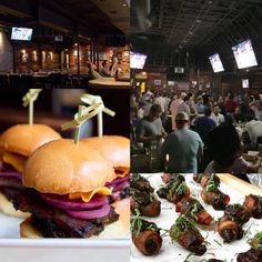 """Stepping up the sports bar scene on West 5th ~ BaseCamp is known for """"elevated sports dining"""" that combines the communal atmosphere of a traditional sports bar with high-quality, locally-sourced food for a perfect night to dine out! #eventvinesatx #venue"""